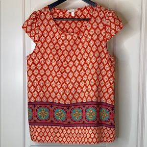 GB Gianni Bini burnt orange print top